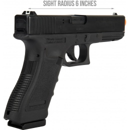Elite Force Licensed Glock 17 Gen 3 CO2 Blowback Airsoft Pistol - BLACK