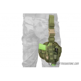 Flyye Industries Tactical Drop Leg MOLLE Pistol Holster - OD GREEN