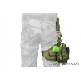 Flyye Industries Tactical Drop Leg MOLLE Pistol Holster - OD GREEN