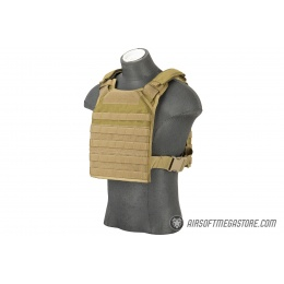Flyye Industries 1000D Cordura MOLLE PC Tactical Vest (MED) (Khaki)