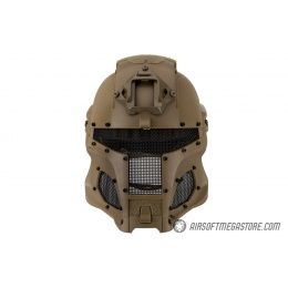 AMA Interstellar Battle Trooper Full Face Airsoft Helmet - TAN