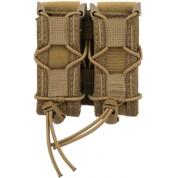 High Speed Gear Polymer Double Pistol TACO® Magazine Pouch - COYOTE BROWN