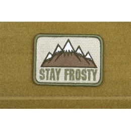 AMS Airsoft Stay Frosty Patch - OD GREEN - Premium Hi-Fidelity Series