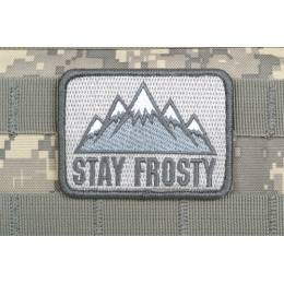 AMS Airsoft Premium Stay Frosty Patch - GRAY/ ACU