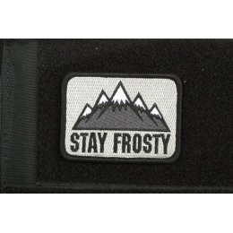 AMS Airsoft Premium Stay Frosty Patch - BLACK/ SWAT Color