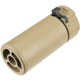 Atlas Custom Works Full Metal SOCOM QD Barrel Extension w/ Flash Hider [MINI] - TAN