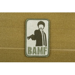 AMS Airsoft BAMF Patch - OD GREEN - Premium Hi-Fidelity Patch Series
