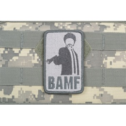 AMS Airsoft BAMF Patch - GRAY/ ACU Color - Premium Hi-Fidelity Series