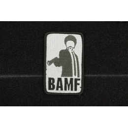 AMS Airsoft BAMF Patch - BLACK/ SWAT Color - Hi-Fidelity Patch Series