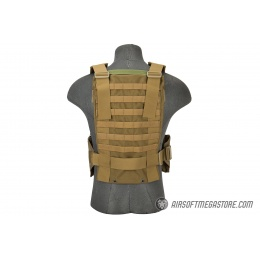 Flyye Industries 1000D Cordura WSH MOLLE Chest Rig - COYOTE BROWN
