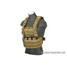Flyye Industries 1000D Cordura WSH MOLLE Chest Rig - KHAKI