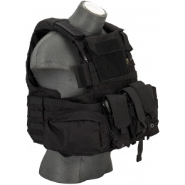 Flyye Industries 1000D Cordura Large Recon Vest w/ 9 Pouches [LRG] - BLACK