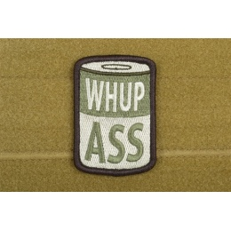 AMS Airsoft Whup Ass Patch - OD GREEN - Premium Hi-Fidelity Series