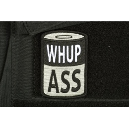 AMS Airsoft Premium Whup Ass Patch - BLACK/ SWAT Color