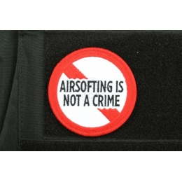 AMS Premium Airsofting is Not a Crime Patch - Full Color