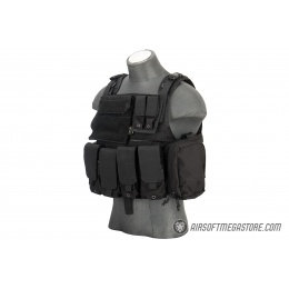 Flyye Industries 1000D Cordura MOLLE Tactical Vest w/ Pouches [MED] (Black
