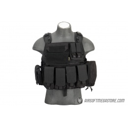 Flyye Industries 1000D Cordura MOLLE Plate Carrier w/ Pouches [MED] - BLACK