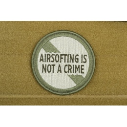 AMS Airsoft Premium Airsofting is Not a Crime Patch - OD GREEN