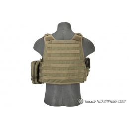 Flyye Industries 1000D Cordura MOLLE Plate Carrier w/ Pouches [MED] - RANGER GREEN