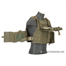 Flyye Industries 1000D Cordura MOLLE Tactical Vest w/ Pouches [MED] (Ranger Green)