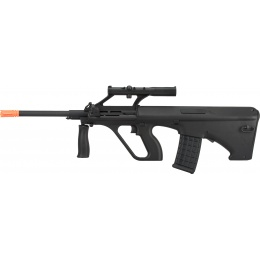 GHK AUG A1 Gas Blowback Airsoft Rifle - BLACK