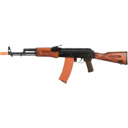 GHK GK74 AK47 Full Metal Real Wood Furniture GBB Airsoft Rifle - BLACK