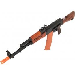 GHK GK74 AK47 Full Metal Real Wood Furniture GBB Airsoft Rifle - BLACK