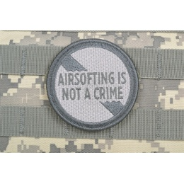 AMS Premium Airsofting is Not a Crime Patch - GRAY/ ACU