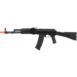 GHK AK74 AKS-74MN Steel Receiver Gas Blowback Airsoft Rifle - BLACK