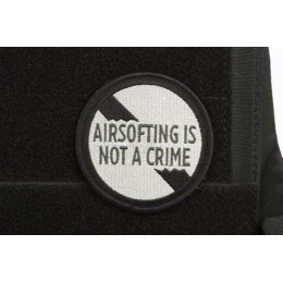 AMS Airsofting is Not a Crime Patch - BLACK- Hi-Fidelity Patch Series