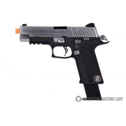 WE Tech P-Virus Two Tone Full Metal Gas Blowback Airsoft Pistol - BLACK/SILVER
