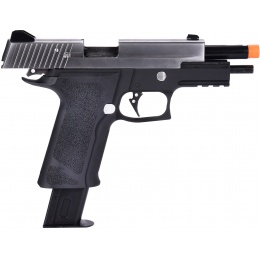 WE Tech P-Virus Two Tone Full Metal Gas Blowback Airsoft Pistol - BLACK/SILVER