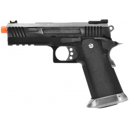 WE Tech 4.3 Allosaurus Full Metal Hi-Capa Gas Blowback Airsoft Pistol - BLACK