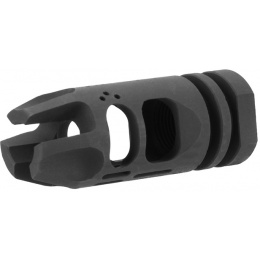 Lancer Tactical Hybrid Airsoft Flash Hider Muzzle Brake Compensator [14mm CCW]