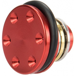 Lancer Tactical Reinforced CNC Aluminum Piston Head w/ Ball Bearings - RED