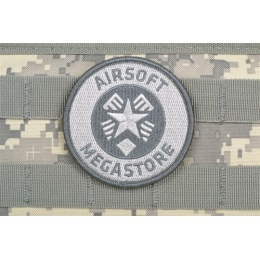 AMS Airsoft Megastore Logo Patch - GRAY/ ACU Color