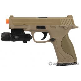 UK ARMS G53 Airsoft Spring Pistol w/ Laser - TAN