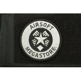 AMS Airsoft Megastore Logo Patch - BLACK - Hi-Fidelity Patch Series