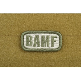 AMS Airsoft BAMF Small Patch - OD GREEN - Premium Hi-Fidelity Series