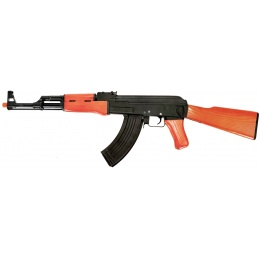 Lancer Tactical AK47 Advanced Full Metal Airsoft AEG Rifle - REAL WOOD