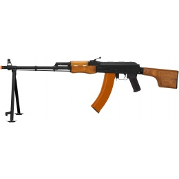 Lancer Tactical RPK Airsoft LMG AEG Rifle w/ Bipod & Folding Stock - WOOD