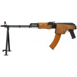 Lancer Tactical RPK Airsoft LMG AEG Rifle w/ Bipod & Folding Stock - WOOD