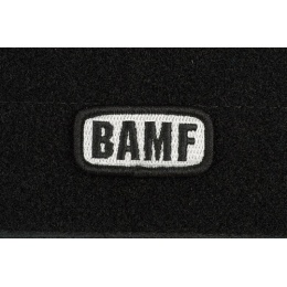 AMS Airsoft Premium BAMF Small Patch - BLACK/ SWAT Color