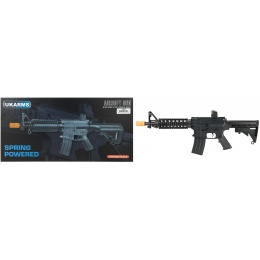 UK Arms P2206 Quad RIS M4 Spring Rifle - BLACK