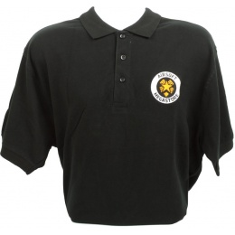 Airsoft Megastore Logo Premium Polo Shirt - BLACK - 100% Cotton
