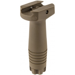 Lancer Tactical Nylon Polymer Picatinny Vertical Foregrip - TAN