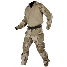 Lancer Tactical Combat Tactical Uniform Set - TRI DESERT-Large