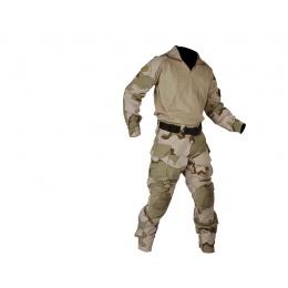Lancer Tactical Combat Tactical Uniform Set - TRI DESERT-XL