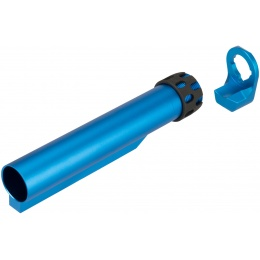Lancer Tactical Buffer Tube, Extended End Plate, and Enhanced Castle Nut - BLUE