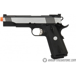 Army Armament Full Metal R30 1911 Gas Blowback Airsoft Pistol - BLACK / SILVER